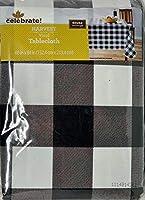 Celebrate! Harvest Vinyl Tablecloth Check 60x84 [並行輸入品]