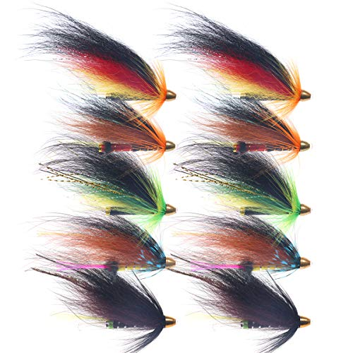 wifreo Vampfly Salmon Trout Steelhead Fishing Flies Cone Head Tube Fly...
