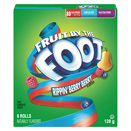 Betty Crocker Fruit by The Foot Rippin Berry Berry, 6ct, 128g/4.5oz,(Imported from Canada)