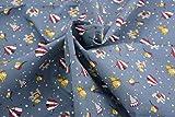 Pyrhan Ltd Stoff, 100 % Baumwolle, 114 cm breit, mit