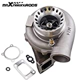 maXpeedingrods GT35 GT3582 GT3582R Turbo Charger Anti-Surge Compressor AR.70/63 600HP, Universal Turbocharger External Wastegate T3 Flange for 3.0L-6.0L Engines Water + Oil Cooled