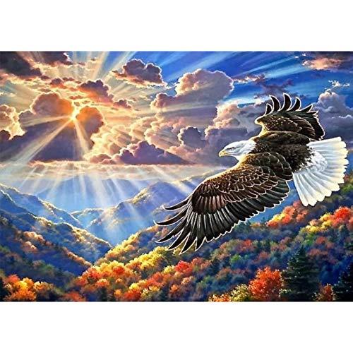 Yingxin34 Puzzle Puzzle de 4000 Piezas para Adultos - Puzzle de águila voladora Cada Pieza es única Puzzle 141x88cm
