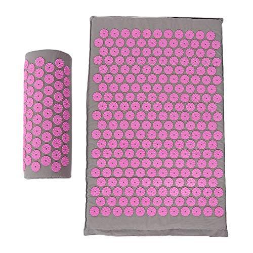 Esterilla de yoga segura 68 x 42 cm Mantiene el cuerpo sano para múltiples partes del cuerpo para mejorar la calidad del sueño No irritante(Light gray powder button)