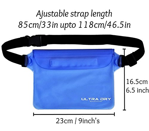 Waterproof Pouches Bags with Adjustable Waist Strap & RFID Identity Theft Protection Sleeves Keeping Your Phone…