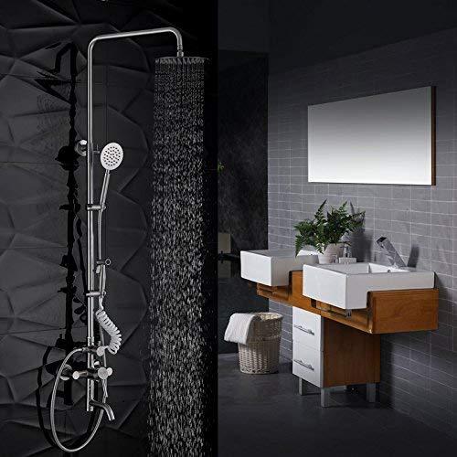 HYY-YY Zieler Qi Sus304 - Set di quattro irrigatori in acciaio inox con rondella da donna, spruzzatore a mano fredda e calda, garanzia di qualità moderna e semplice, decorazione per la casa
