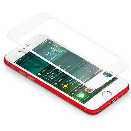 CoolReall Panzerglas Schutzfolie Kompatibel mit iPhone 8 7 (4,7 Zoll),[9H Härtegrad,3D-Touch kompatibel](Weiß)