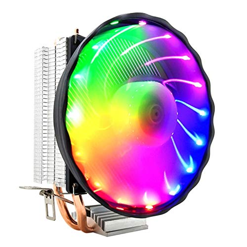 Nuttbuer Ventilador de la CPU, Ventilador del radiador del Tubo de Cobre de la computadora de Escritorio, Ventilador de Calor de la tubería de Calor Ultra silenciosa y Completa (Size : 4 Pin)
