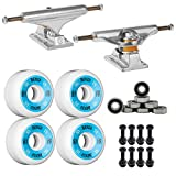 Independent Silver 149mm Truck Package Skateboard Bones 100's Wheels 53mm mm Abec 7 Bearings