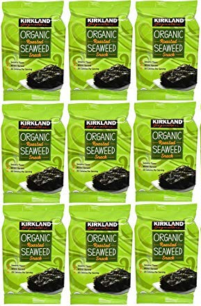 Kirkland Signature Organic No Preservatives/MSG Roasted Seaweed Snack, Sesame (Winter Harvest): 9 Pack (0.60 oz.)