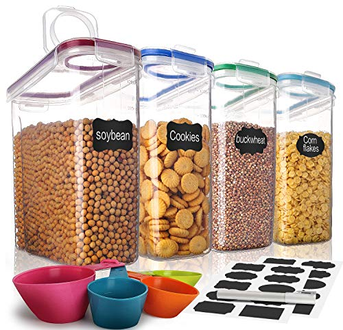 Cereal ContainerMCIRCO Food Storage ContainersAirtight Flour Containers Keeper 169 Cup 1352oz Set of 4