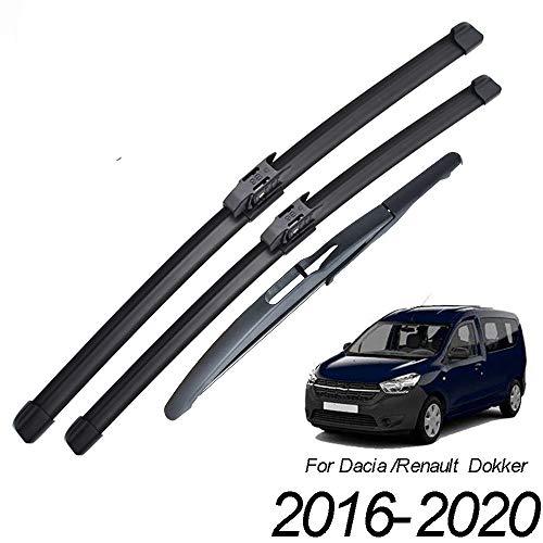 HZHAOWEI , Para limpiaparabrisas Traseros Delanteros, para Renault Dacia Dokker 2016 2017 2018 2019 2020 Parabrisas Parabrisas Delantero 22