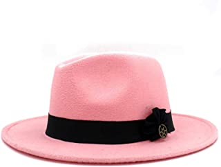 SHENTIANWEI Men Women Fedora Hat Wide Brim Jazz Hat Pop Panama Hat Outdoor Travel Church Hat Fascinator Size 56-58CM