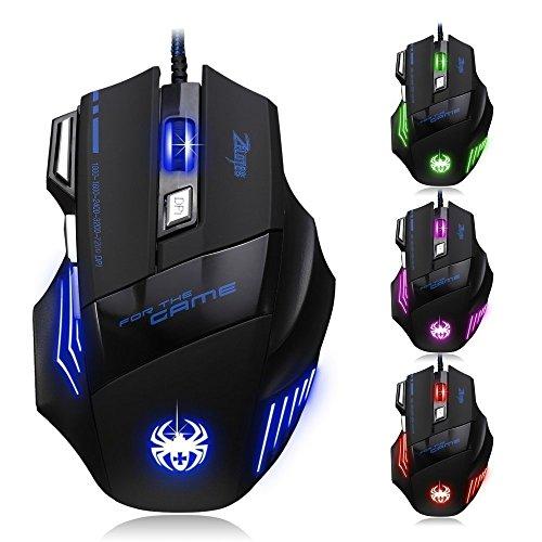 AFUNTA ratón para juegos para PC y portátil