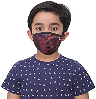 WILDCRAFT SUPERMASK W95 Plus Reusable Outdoor Respirator with neckband for Kids(Small) (PACK OF 3, SUBLIPRINT : RED_TRIZI)