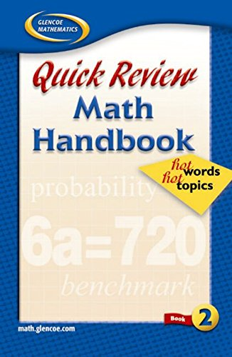 Quick Review Math Handbook: Hot Words, Hot Topics, Book 2, Student Edition
