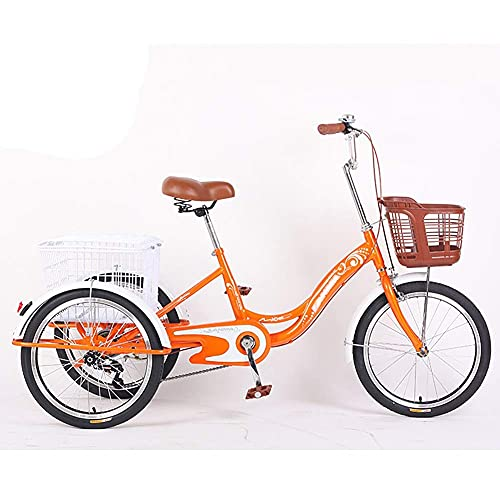 FGVDJ Adult Tricycles 3 Wheel Cruiser Bike Single Speed, Adult Trikes 20 Inch Wheels Low Step-Through with Cargo Basket for Women Men