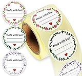 LEANDER DESIGN® 250 Etiketten selbstklebend – praktische 4cm ØKlebeetiketten zum beschriften...
