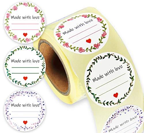 LEANDER DESIGN® 250 Etiketten selbstklebend – praktische 4cm ØKlebeetiketten zum beschriften – Etiketten für Gläser, Marmelade, Einmachgläser