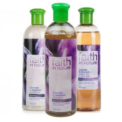 Faith in Nature Lavande & Géranium schampoo Cure & Gel Douche