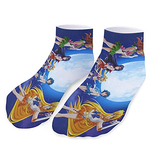 Anime Sailor Moon - Calcetines deportivos para hombre y mujer (microfibra, transpirables, suaves y cómodos)