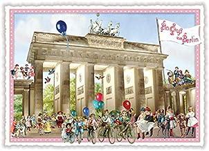 DIN A6 BERLIN Motiv + Brandenburger Tor I stadtecken I Hochwertige Ansichtskarten I Leben /& Momente Lustig I Postkarten Postcrossing I Geschenk I Geschenkidee Postkarten