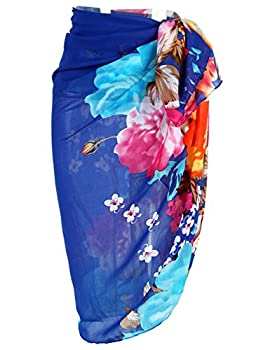 Ayliss Womens Swimwear Chiffon Printed Cover up Beach Sarong Pareo Bikini Swimsuit Wrap,#19