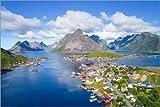 Poster 30 x 20 cm: Norwegen Traumblick von Dave Derbis -