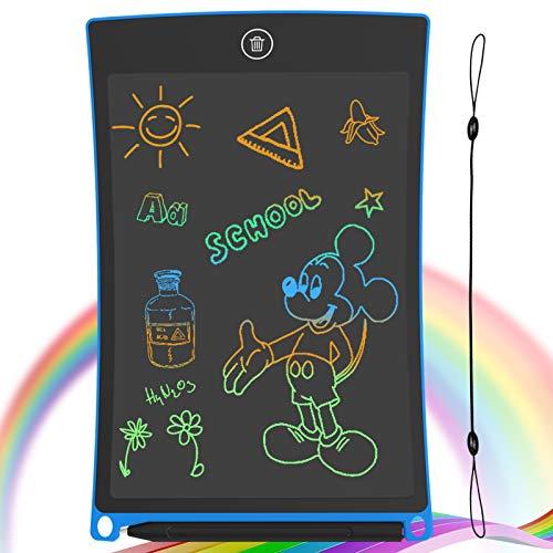 GUYUCOM Tavoletta per Scrittura LCD Schermo da 8,5 Pollici Schermo colorato Doodle Tavolo da Disegno Tavoletta Grafica con Pulsante di Blocco per Regalo di Compleanno per Ragazze (Blu)
