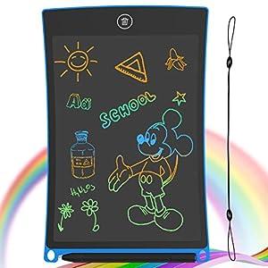 GUYUCOM Tableta de Escritura LCD, Tablero de Dibujo electrónico de 8.5 Pulgadas - Tablero de Graffiti de con Bloqueo de Pantalla borrable y Reutilizable para Pinturas niños y Juguete Educativo (Azul)