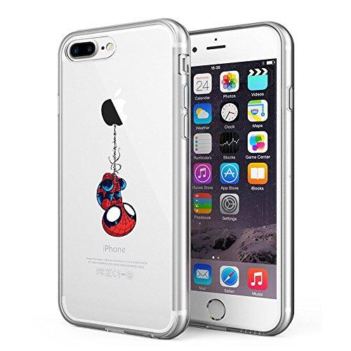Litech Case for Apple iPhone 7 Plus (2016) / iPhone 8 Plus (2017) [Flexfit] Comic Super Hero Inspired Series [Premium Scratch-Resistant] (Spider Man)
