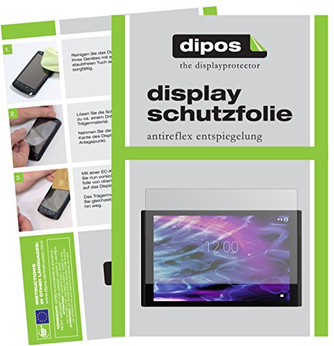 dipos I 2X Schutzfolie matt kompatibel mit Medion LifeTab X10311 Folie Bildschirmschutzfolie