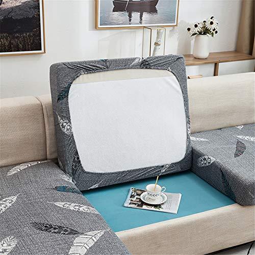 Fundas de cojín para sofá y sofá, elásticas, de repuesto para cojines individuales (gris oscuro, 3 plazas)