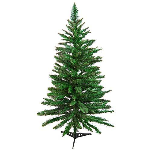 BB Sport 90 cm Christbaum Weihnachtsbaum PVC Tannenbaum Künstlich Standfuß, Farbe:Hellgrün, Höhe:90 cm (156 Spitzen)