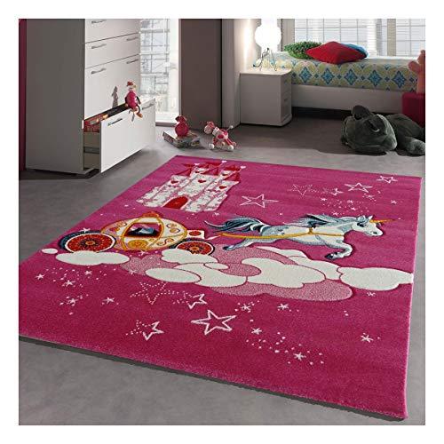 Dezenco CHATEAU PRINCESSE, tappeto moderno., Plastica, Rose, 80 x 150 cm