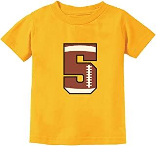 Gift for 5 Year Old 5th Birthday Football Toddler Kids T-Shirt