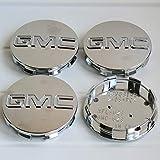 4Pieces Set,GMC Chrome Wheel Center Hub Caps Emblem 83mm /3.25' GMC Rim Center Hubs Fit for GMC Denali Sierra Yukon 18' 20' 22 'Wheel 9595759 Chrome (Chrome with Drill)