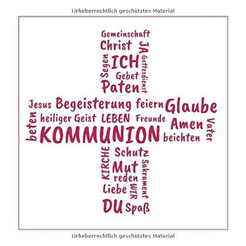 Gästebuch zur Kommunion: Erinnerungsbuch zum Eintragen von Glückwünschen | Geschenkidee zur...