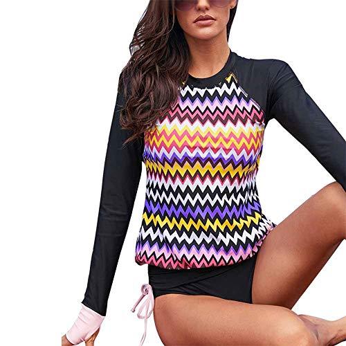 KYEEY Damen Sporthemden & T-Shirts Surf Suit Ladies Tauchanzug Jellyfish Neoprenanzug Sunscreen Snorkeling Long Sleeve Single Badeanzug in Übergröße Frauen Tankinis (Color : Photo Color, Size : M)