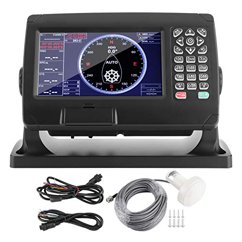 RBSD Trazador de navegación GPS de 7 Pulgadas, localizador GPS Marino LCD con trazador de navegación Carta para Yates, Barcos de Pesca, GPS para navegación, Pantalla de navegación de Barcos