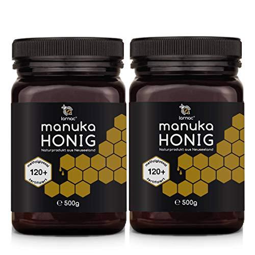 Larnac Manuka Honig MGO 120+ aus Neuseeland, 2x500g, Methylglyoxal zertifiziert