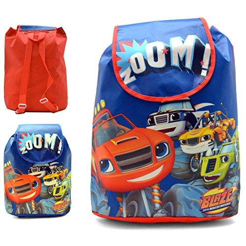Blaze and the monster machines Mochila Con Solapa Y Asas Blaze kinderrugzak 37 centimeter meter, meerkleurig (multicolor)
