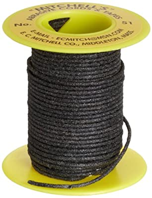 "Mitchell Abrasives 51 Round Abrasive Cord, Aluminum Oxide 120 Grit .055"" Diameter x 25 Feet"