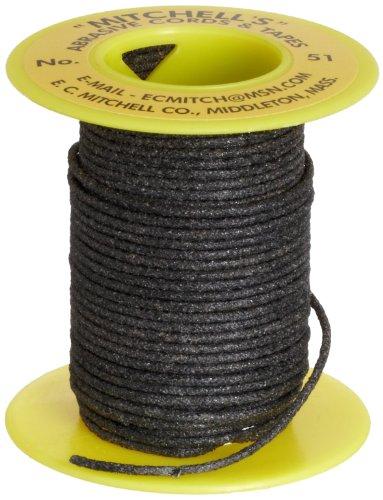 Mitchell Abrasives - 51A-25 51 Round Abrasive Cord, Aluminum Oxide 120 Grit .055' Diameter x 25 Feet