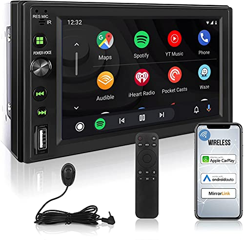 Wireless Carplay Double Din Bluetooth Wifi Car Stereo with Carplay and...