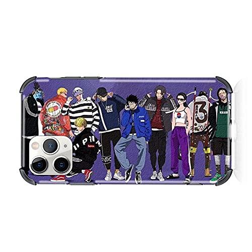 Anime Soft Case para One Piece iPhone 6 6S 7 8 Plus X XR XS 11 12 Pro MAX Mini SE 2020 Cubierta del teléfono-A_iPhone_7