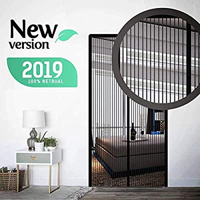 Magnetic Screen Door with Mesh [2019] - Heavy Duty Curtain Door with Reinforced Full Frame Velcro - Durable & Pet Friendly