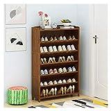 XNSCL Estante multifuncional de almacenamiento de zapatos de bambú de 7 niveles para zapatos, organizador de zapatos, gabinete de exhibición para armario, guardarropa, pasillo de entrada