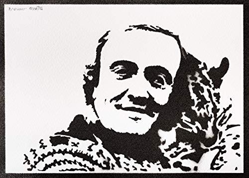 Felix Rodriguez de la Fuente Poster El Hombre y la Tierra Plakat Handmade Graffiti Street Art - Artwork