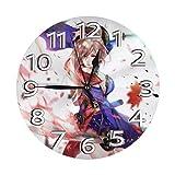掛け時計 Fate/Stay Night Heaven'S Feel 電波時計 おしゃれ アニメ 連続秒針 静音 壁掛け時計 掛時計 インテリア 大数字 見やすい 25cm Yamadei