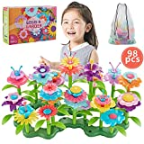 Bu-buildup BBU.01.002 Flower Building Toys, Garden Building Block, Pretend Gardening Toy, Creative Play Toy, 98 PCS Early Educational Toy, Build a Bouquet Floral Arrangement Playset for Kids 3 & Up